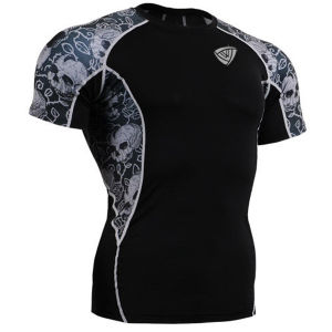 Tactical Heatgear Compression O Neck T Shirt Black (SRC63) pictures & photos