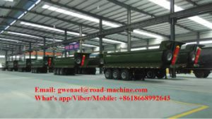 Stable Dump Semi Trailers/Dumper Semi-Trailers/Tipper Semi Truck Trailers pictures & photos