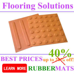 Rubber Tactile Mat for Blind Man Flooring Tile pictures & photos
