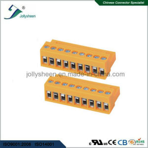 Pluggable Terminal Blocks 9pin pH3.96mm with Orange Housing pictures & photos