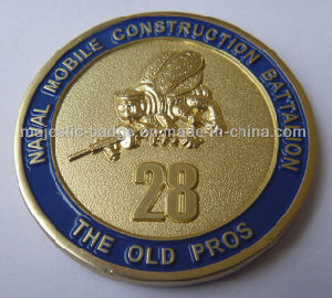 3D Soft Enamel Sandblasted Challenge Coin pictures & photos