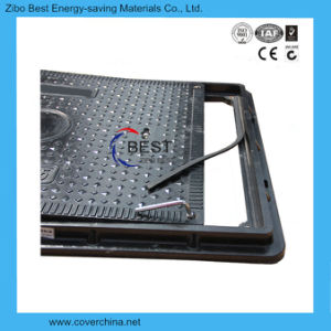 En124 850X650mm SMC Rectangular Manhole Cover with Lock pictures & photos