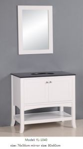 Modern Vanity Bathroom Cabinet with Glass Sink