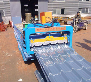 Type Colored Steel Glazed Tile Sheet Metal Forming Machine