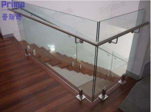Glass Stair Rails Glass Railings for Stairs Pr-B1015 pictures & photos