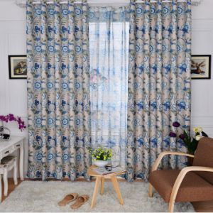 Flax Jacquard Curtain European Style Curtain (MM-104) pictures & photos