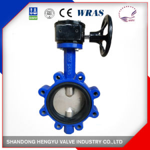 Lug Type Double Half Stem Butterfly Valve with Handlever pictures & photos