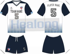 Dark Blue Customized Fashion Style Football Suit pictures & photos