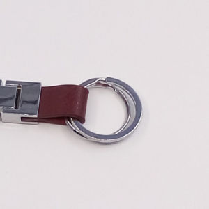 Boutique Men Metal Leather Key Chain with Logo Customized pictures & photos