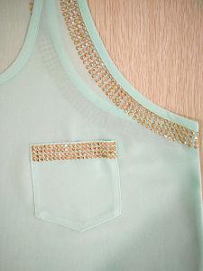 Fashion Apparel Chiffon Paillettes Women Vest Tank Top pictures & photos