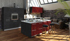 High Gloss UV MDF Boards Kitchen Cabinets (ZX-023) pictures & photos