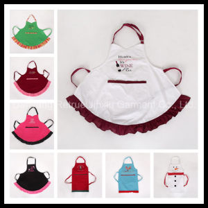 2015 New Design Promiton Cute Server Frilly White Cooking Apron
