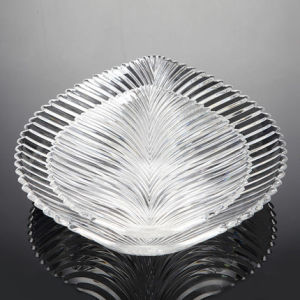 Creative Fashion Acrylic Leaf Shaped Fruit Tray pictures & photos