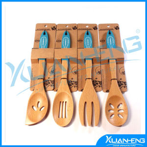 Silicone Kitchen Cooking Spoon Spatula Wooden Handle Baking pictures & photos