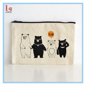 Natural Storage Travel Organizer Canvas Cotton Cosmetic Bag pictures & photos