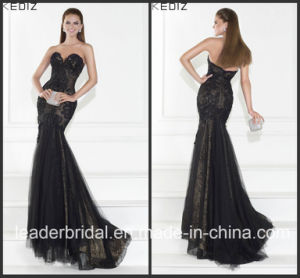 Black Trarik Prom Party Dress Lace Tulle Evening Dress E15119 pictures & photos