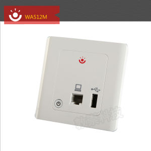 Customize Single Band WA512M in Wall Wireless Access Point with POE adaptor