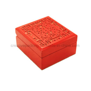 Engraved Red Empty Wooden Box for Gift Packaging pictures & photos
