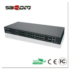 100/1000Mbps Link 2GX/Combo 24FE Ports Intelligent/Management Ethernet Switch pictures & photos