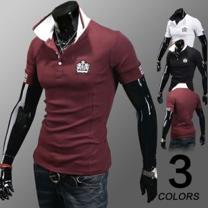 Wholesale Pique Material Men Polo T-Shirt with Embroidered Logo pictures & photos