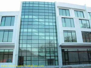 House Construction Building Exterior Fixing Clear White Glass Curtain Wall