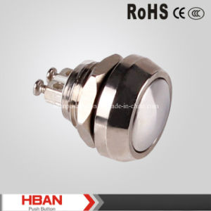 RoHS Lower Voltage 12mm Metal Waterproof Momentary Push Button Switch pictures & photos