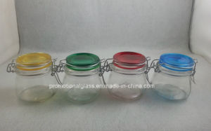 150ml Glass Jar with Colored Glass Lid