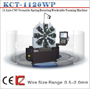 Kct-1120wz 0.3-2.2mm 11 Axis Calmless Versatile Spring Rotating Workable Forming Machine&Extension/Torsion Spring Making Machine pictures & photos