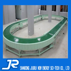 Turning PVC Belt Conveyor with Baffle for Production Line pictures & photos