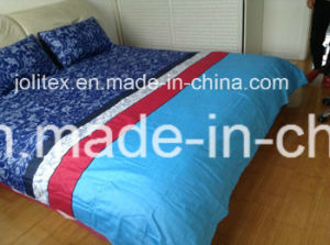 100% Cotton Plain Dyed Printed Bedding Sets/Printed Bed Sheet Textile