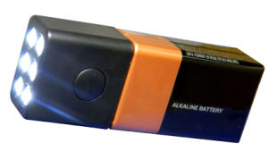 9V Battery LED Flashlight
