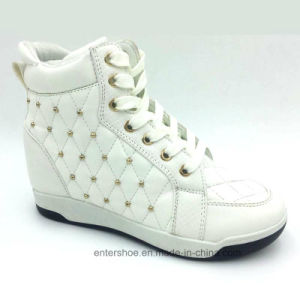 White PU Women′s Fashion Shoes with High Heel (ET-XK160351W) pictures & photos
