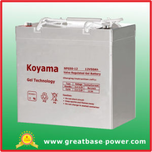 50ah 12V SMF Gel Storage Battery for Wind Power System pictures & photos