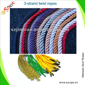 Twisted Cord (PP, polyester, nylon, cotton, metallic, rayon) (1---20MM)