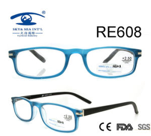 Rectangle Frame Spring Hinge Custom Reading Glasses (RE608) pictures & photos