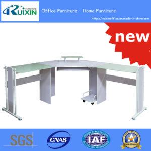 Hot Sale L Shape Glass Office Desk (RX-D1169) pictures & photos