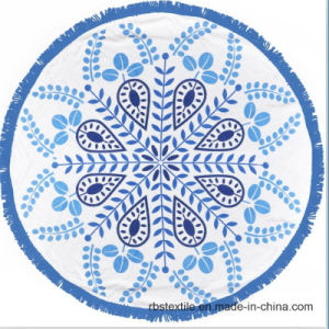 Beautiful Round Printed Beach Towel for Women pictures & photos