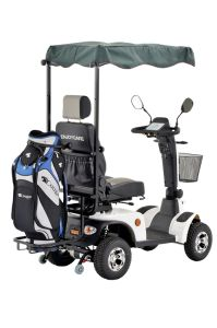 Four Wheels Electric Mobility Scooter with Golf Bag pictures & photos