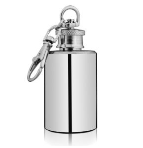 1oz Plain Stainless Steel Hip Flask with Key Ring (QL-SM01)