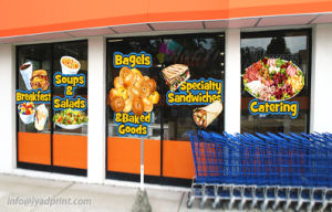 Full Color Printing shopping Mall/Supermarket/Chain Store Custom Window Sticker pictures & photos