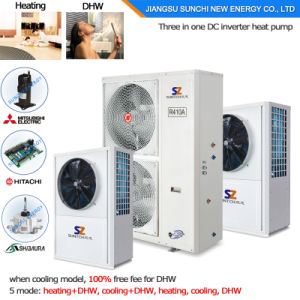 Australia Type Fast Install 2.5kw 150L, 3.5kw 260L Save70% Power R134A Outlet 60deg. C Dhw All in One Air Heat Pump Water Heater pictures & photos