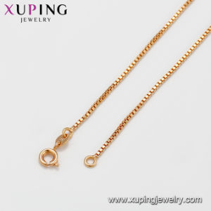 42626 Simple 18K Gold Plated Jewelry Chain Necklace with No Stone pictures & photos