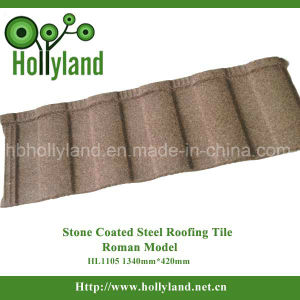 Stone Chips Coated Metal Roof Tile (Roman type) pictures & photos
