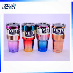 UV Chrome Double Wall 304 Stainless Steel Vacuum Tumbler Insulated Mug Yeti Cup pictures & photos