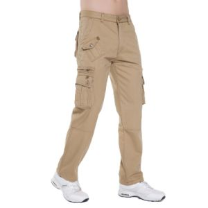 100% Cotton Steet Style Multi Pocket Men Casual Pants pictures & photos
