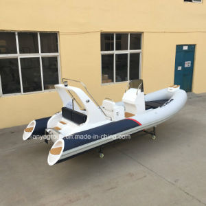 Liya 5.2m Fiberglass Rigid Inflatable Boat Hypalon Rib Boat pictures & photos