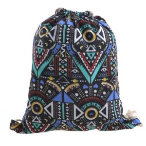 Hot Sale Promotional Canvas Backpack Women Drawstring Bag pictures & photos