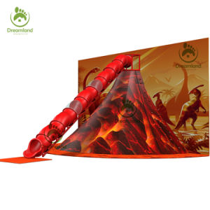 Dinosaur Theme Indoor Soft Volcano Slide Playground, Volcano Climbing Game for Sale pictures & photos