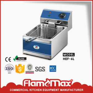 Stainless Steel 2-Tank 2 Basket Electric Fryer (HEF-62) pictures & photos