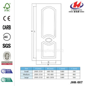 Moulded HDF/MDF Solid Wood White Door Skin (JHK-007) pictures & photos